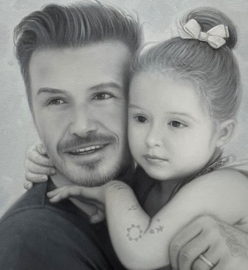 David Beckham With Girl After