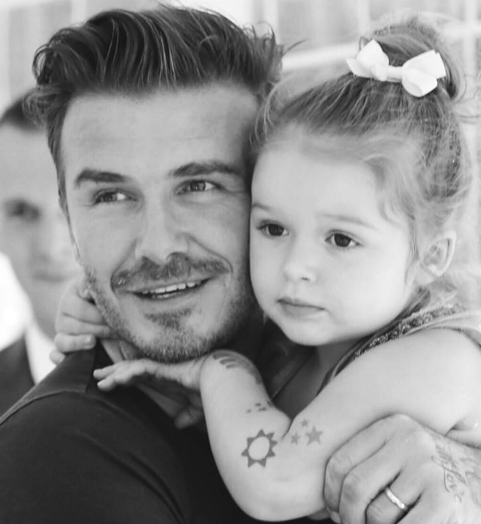 David Beckham With Girl Before
